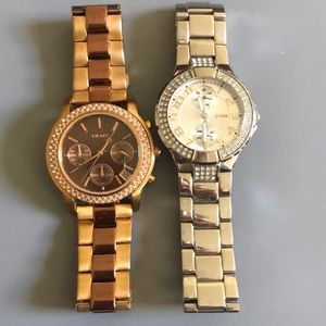 2 Stainless Steal used watches.